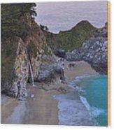 Mcway Falls - Big Sur Wood Print