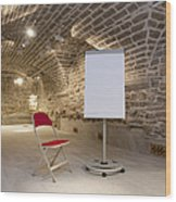 Meeting Rooms Vaulted Ceilings Wood Print by Jaak Nilson