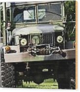 Military Truck Wood Print by Blink Images