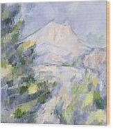 Mont Sainte-victoire Wood Print by Paul Cezanne