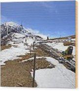 Monte Tamaro - Alpe Foppa - Ticino - Switzerland Wood Print by Joana Kruse