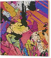 Moon Rock, Transmitted Light Micrograph Wood Print