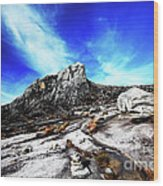 Mount Kinabalu Wood Print