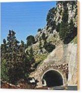 Mountain Tunnel. Wood Print