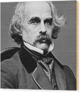 Nathaniel Hawthorne, American Author Wood Print