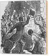 New York: Astor Place Riot Wood Print