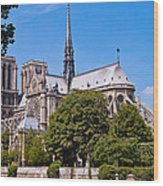 Notre Dame Cathedral Paris France Wood Print
