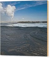 Oil Industry Pollution Wood Print