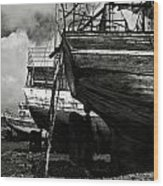Old Abandoned Ships Wood Print
