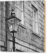 Old Sugg Gas Street Lights Converted To Run On Electric Lighting Aberdeen Scotland Uk Wood Print