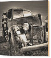 Old Truck At Bodie Wood Print