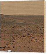 Panoramic View Of Mars Wood Print