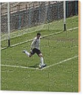 Photo Puzzle Of The Goalkeeper  Wood Print