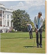 President Barack Obama And Vice Wood Print