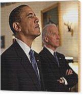 President Obama And Vp Biden Wood Print