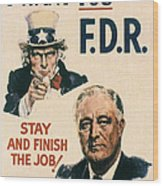 Presidential Campaign, 1940 Wood Print