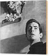 Psycho, Anthony Perkins, 1960 Wood Print by Everett