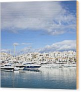 Puerto Banus In Spain Wood Print