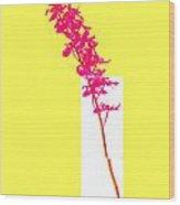 Purple Orchid Bunch Wood Print