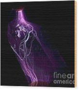 Quartz Crystal & Sparks Wood Print by Ted Kinsman