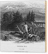 Railroad Construction Wood Print