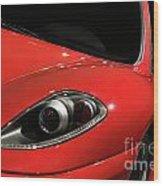 Red Ferrari F430 Scuderia Wood Print
