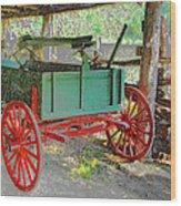 Red Wheels Wood Print