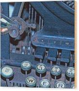 Remington 11 Detail Wood Print