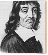 Ren� Descartes, French Polymath Wood Print