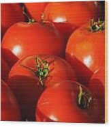 Ripe Tomatoes Wood Print