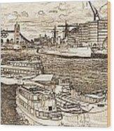 River Thames Art Wood Print