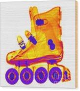 Rollerblade Boot Wood Print
