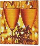 Romantic Holiday Celebration Wood Print