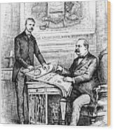 Roosevelt Cartoon, 1884 Wood Print by Granger