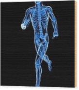 Running Skeleton, Artwork Wood Print