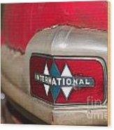 Rusted Antique International Car Brand Ornament Wood Print