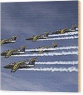 Saab 105 Jet Trainers Of The Swedish Wood Print