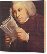 Samuel Johnson, English Author Wood Print by Photo Researchers