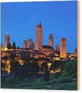 San Gimignano Wood Print