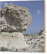 Sarakiniko White Tuff Formations Wood Print