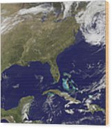 Satellite View Of The United States Wood Print