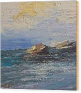 Sea Rocks Wood Print by George Siaba