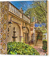 Sedona Tlaquepaque Shopping Center Wood Print
