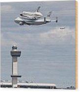 Shuttle Enterprise Wood Print