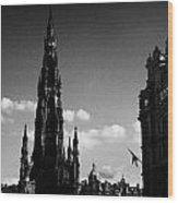 Sir Walter Scott Monument Princes Street Edinburgh Scotland Uk United Kingdom Wood Print