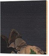 Stars In A Night Sky Wood Print