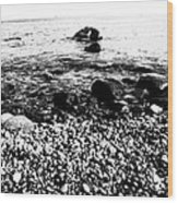 Stones At The Sea Wood Print by Falko Follert
