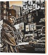 Street Phenomenon 50 Cent Wood Print