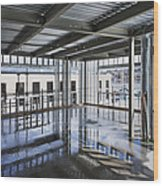Structural Steel Construction. Metal Wood Print