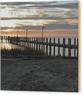 Sunset Cape Charles Virginia Wood Print